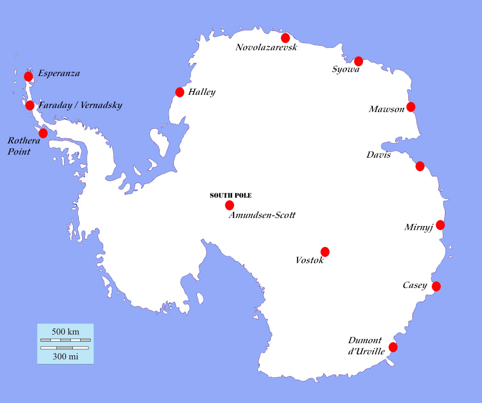 Antarctic Region Map Regions of The Antarctic