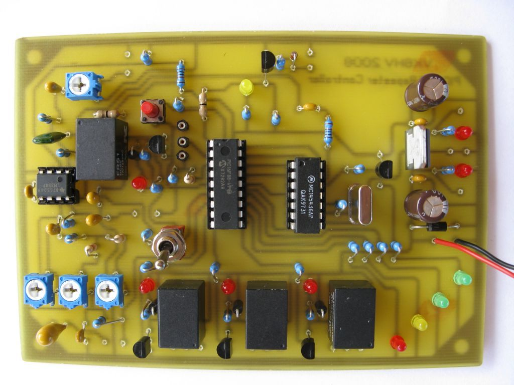 how to make cross band repeater controller schematic